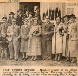 Golf Club Opened.