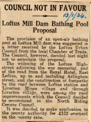 Swimming Pool For Loftus Mill?
