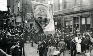 Parade in Brotton, 1908