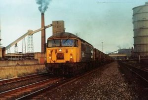 Class 56 at South Bank (1987)