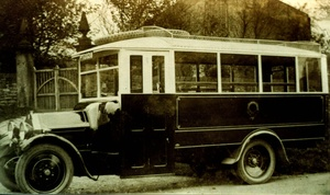 Bus at Easington Church