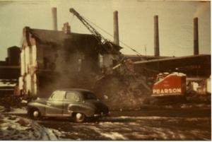 Demolition of Furnace Cottages 1963