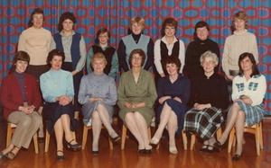 14 Lady Staff at the Infant School Loftus - 1982